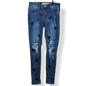 Ashley Mason Sequin Skinny Jeans